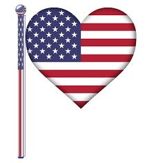 usa flag heart clipart clipartxtras