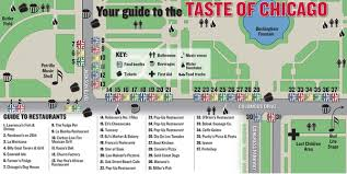 taste of chicago map dan kesic dankesic