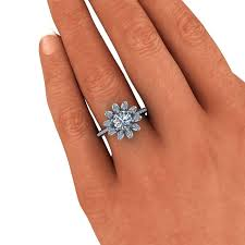 flower engagement rings flower diamond ring flower diamond engagement ring uk etchedin me