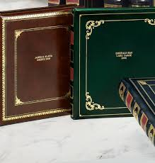 Leather Photo Album Personalized Library Leather Personalized Photo Album Photo Album Exposures