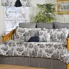 plymouth black and white toile 10 piece cotton daybed set free