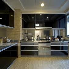 gloss black pvc self adhesive contact paper diy kitchen shelf
