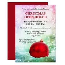 Open House Invitations Christmas Party Invitations By Anne Vis