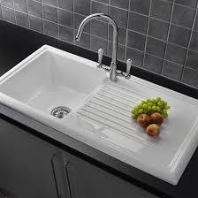 Reginox White Ceramic  Bowl Kitchen Sink With Mixer Tap Mixer - Kitchens sinks and taps