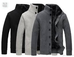 cheap new korean mens slim fit cardigan sweaters thick