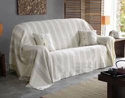 plaid blanc pour canapé plaid pour fauteuil plaid et coton arhan caravane noir et
