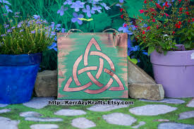 trinity celtic knot home decor sign celtic sign irish home