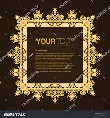 abstract golden ornamental framed text box stock vector 125007053