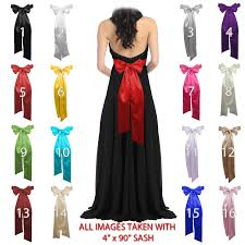 satin sash belt 6 x 90 wedding satin sash belt bow tie headband scarf ebay