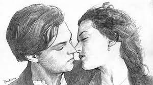 speed drawing titanic kiss portrait leonardo di caprio and kate