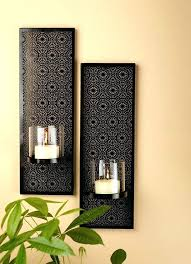 Wrought Iron Candle Wall Sconces Decorative Wall Sconces Mesmerizing Large Wall Sconce Decorative