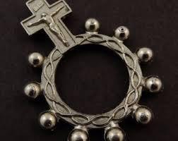 rosary rings rosary ring etsy