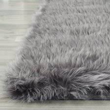 Safavieh Faux Sheepskin Rug Faux Fur Rug Grey Grey Faux Fur Rug Looking 2