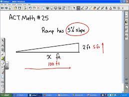act math slope ramp problem youtube act math slope ramp problem