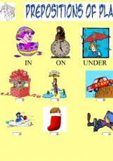 english exercises prepositions