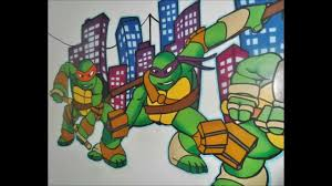 tmnt mural painting wow must see youtube