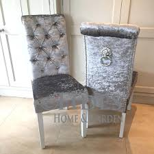 silver grey velvet dining chairs dark gray chair and table studded