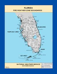 Map Melbourne Fl Maps Southern Florida Fire Weather Zone Boundaries