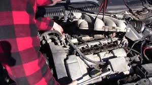 intake plenum and spark plug removal on a 1998 ford taurus youtube