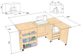 Dimension Of The Table Comfort 5l Sewing Machine And Overlocker Table