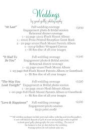 Photography Wedding Packages Good Golly Photography Weddings