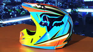 fox motocross helmet fox racing v4 race helmet chaparral motorsports