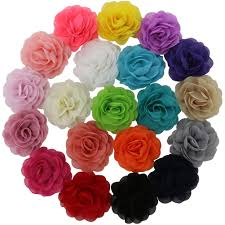 How To Make Flower Hair Clips - amazon com qinghan 16pcs 4 5