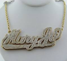 necklace name plate 14k yellow diamond maryjo name plate rope chain necklace 20