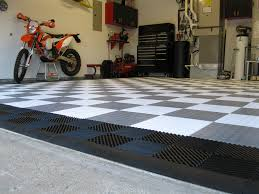 racedeck pro metal diamond plate garage tile mat image of garage paulu0027s coin garage floor tile with ribbed drain tile