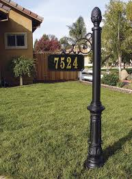 light post with address sign product portfolio yard ranch golf signs