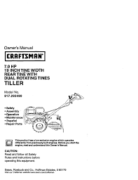 craftsman 917 293490 owner s manual