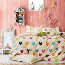 disney discovery colorful mickey silhouette bedding set