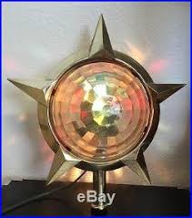 Retro Christmas Tree Toppers - vintage bradford gold celestial star rotating motion lamp