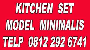 Kitchen Set Minimalis Hitam Putih 0812 292 6741 Lemari Gantung Dapur Minimalis Kitchen Set Hitam