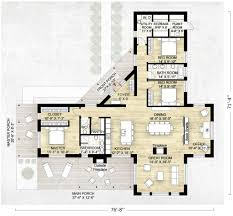 Single Story House Plans Without Garage by Contemporary Style House Plan 3 Beds 2 5 Baths 2180 Sq Ft Plan