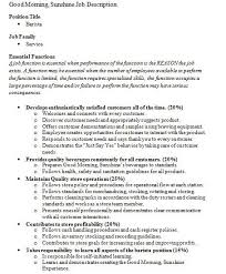 sample resume barista position best resumes curiculum vitae and