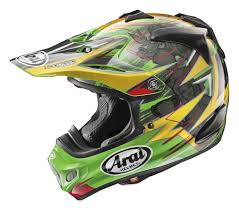 green motocross helmet arai vx pro 4 broc tickle trophy replica mens off road