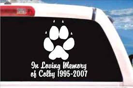 dog memorial dog memorial decals dog memorial stickers decal