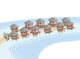 elegant colorful illustration design for tides beach resort ltd