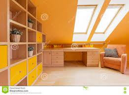 attic study room idea stock photo image 75204396