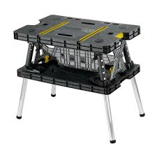 folding work table home depot keter 21 65 in x 33 46 in x 29 7 in folding work table 197283