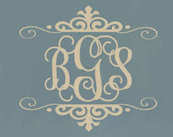 initial monogram wall decor bedroom wall decal baby