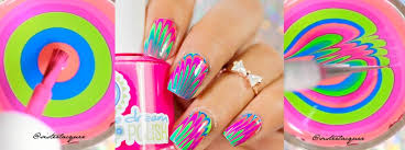 nail art tutorial feather water marble nail it