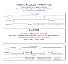 Free Wedding Samples By Mail 17 Wedding Order Templates U2013 Free Sample Example Format