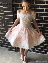white 8th grade graduation dresses boat neck pink white lace homecoming dresses sleeve