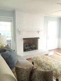painted fireplace living room