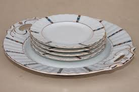tray plates antique german porcelain dessert set china plates w serving tray