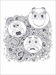 coloriage dessins pour enfants emojis émoticônes 19