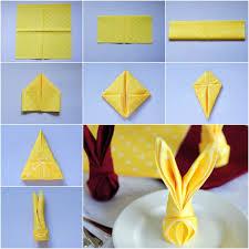 easter napkins how to fold bunny napkin diy tutorial napkins artichokes and