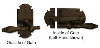 bronze gate hardware and exterior gate hardware create a